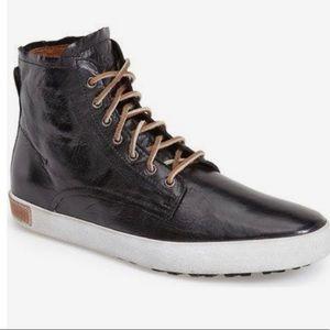 Blackstone Black 'Mogano' Leather Hi Top Sneakers